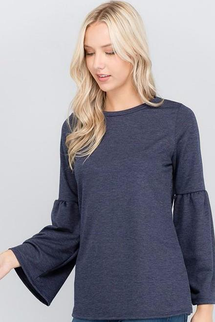 Denim Blue Bell Sleeve Tunic