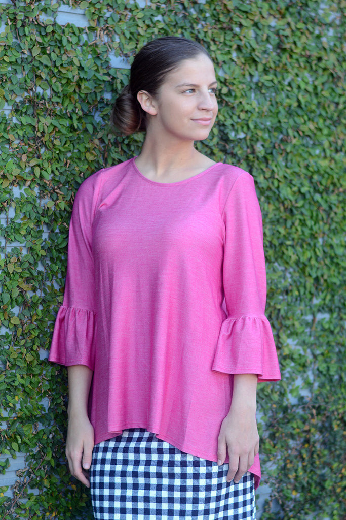 Hot Pink 'Abigail' Tunic
