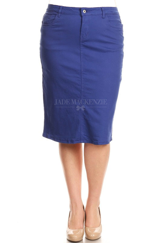 Royal Blue BG Denim Skirt (LIMITED SIZES AVAILABLE)
