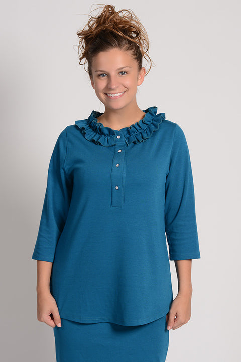 Emerald 'Olivia' Ruffle Tunic (FINAL SALE)