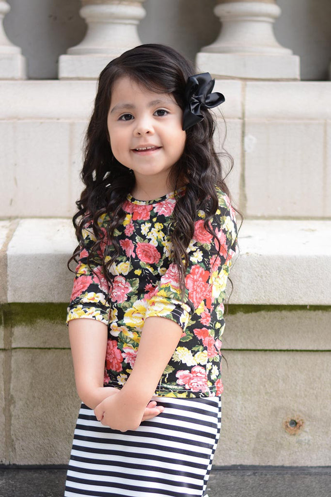 Girls Floral Layering Tee