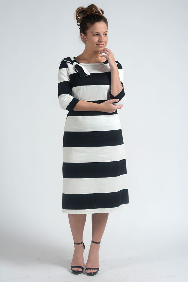 Amelia Black & White Stripe Dress COMING SOON