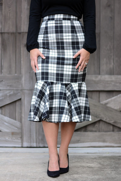 Gianna High Waist Peplum Skirt
