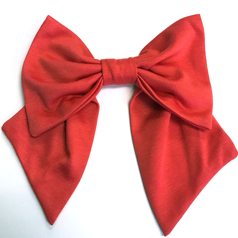 Deep Coral Bow