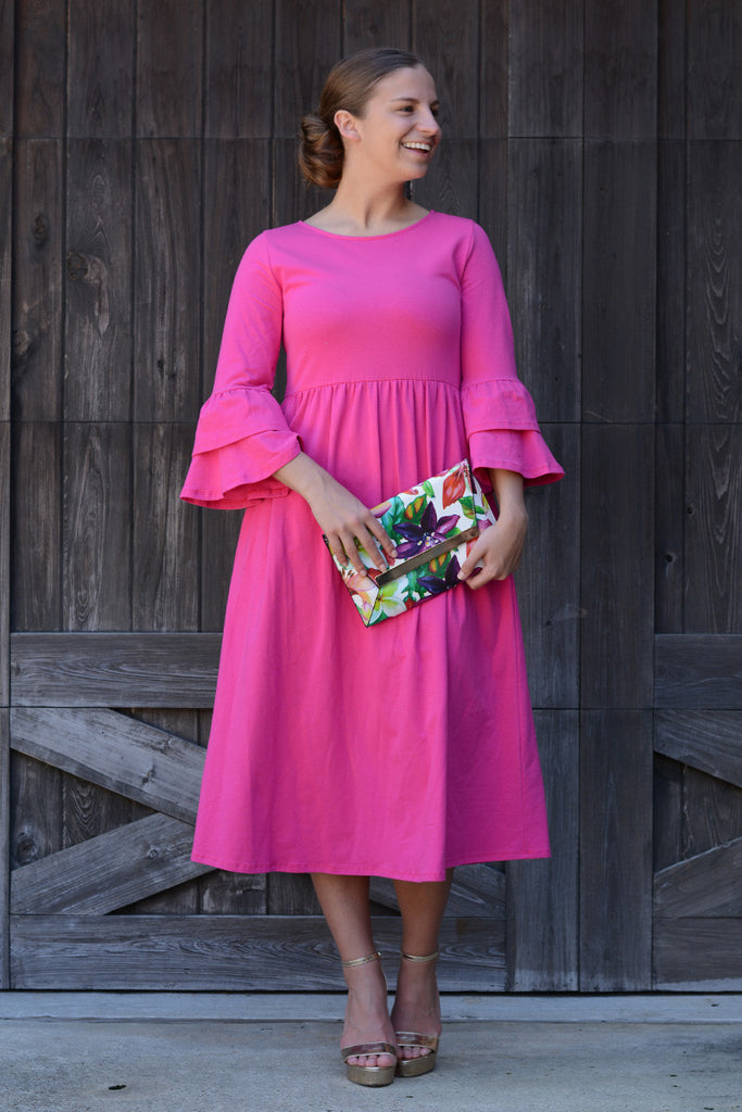 Hot Pink Chelsea Ruffle Dress