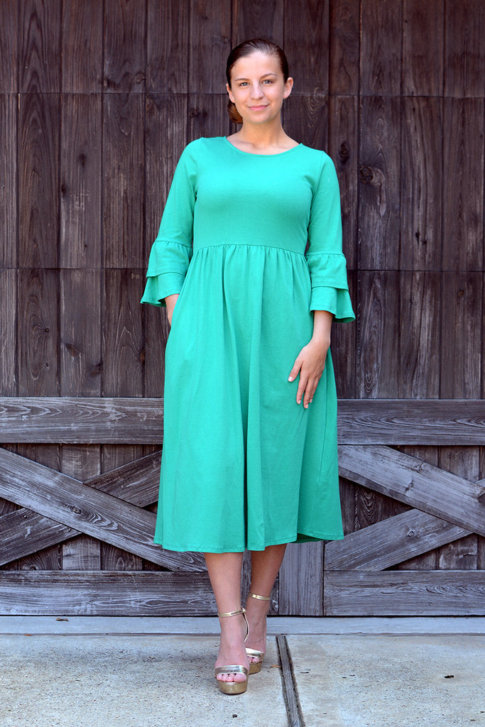 Green Chelsea Ruffle Dress