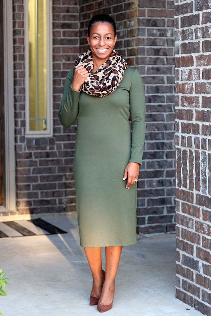 Lilian Olive Green Layering Dress