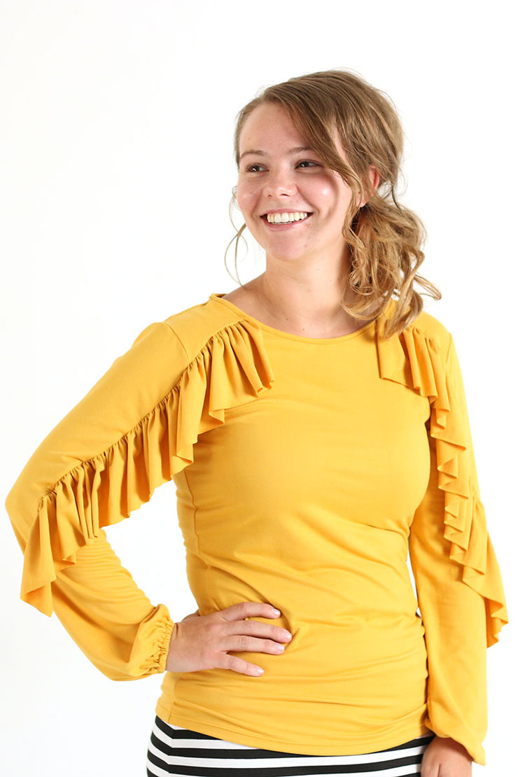 'Bethany' Ruffle Top (More colors available)