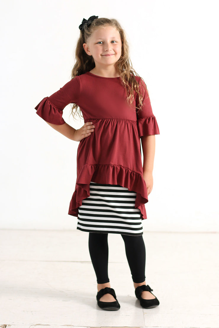 'Breelyn' Girls Hi-lo Ruffle Top