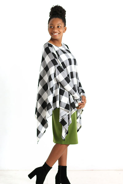 Buffalo Plaid Poncho (more colors available)
