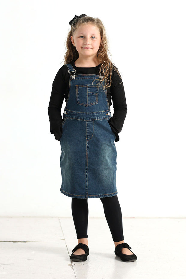 'Allie' Girls Denim Overalls