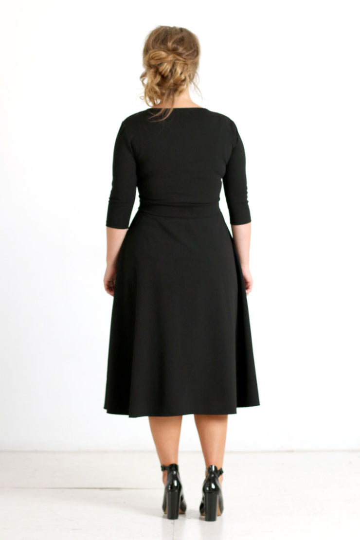 'Bella' Black Dress