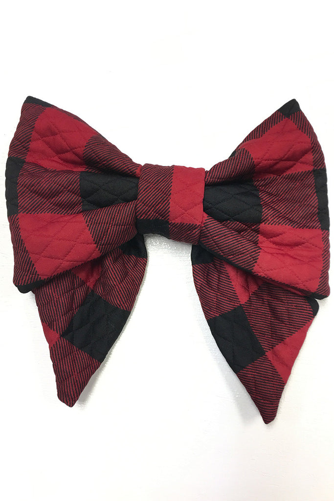 Black & Red Checker Bow