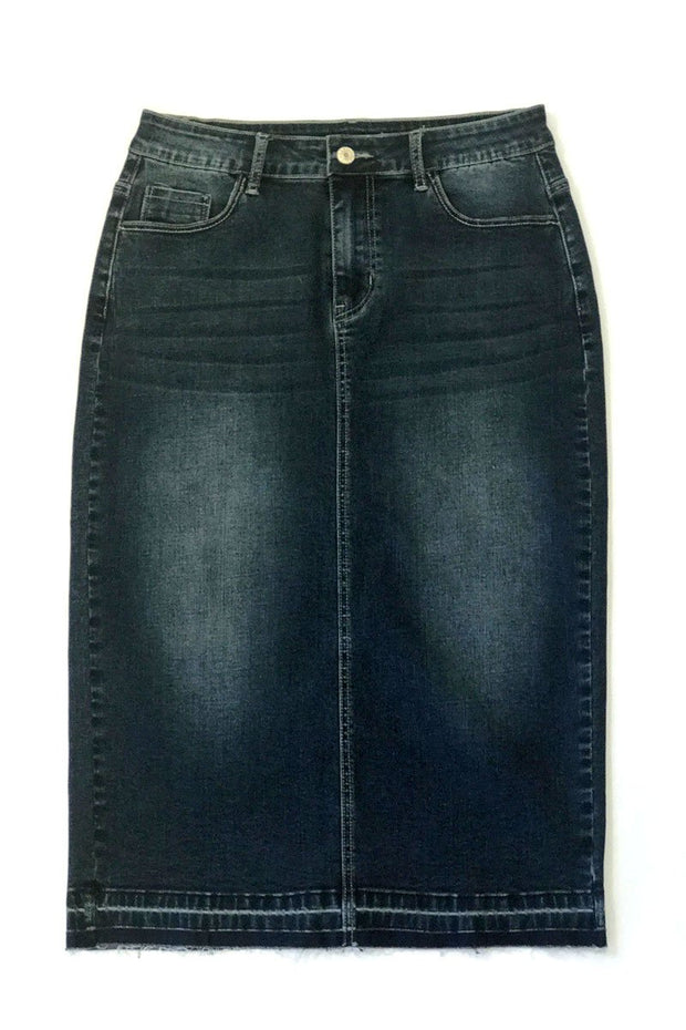 'Emma' Denim Skirt (available in two colors)