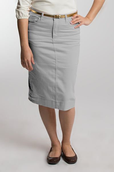 Heather Gray Denim Skirt