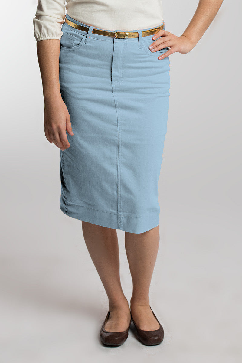 Sky Blue Denim Skirt
