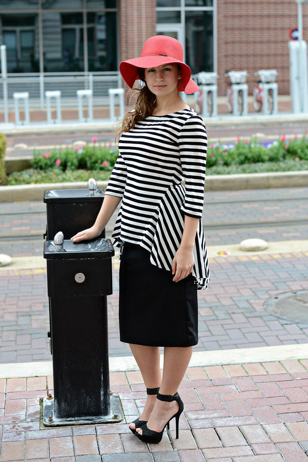 Adelyn Black & White Stripe Tunic