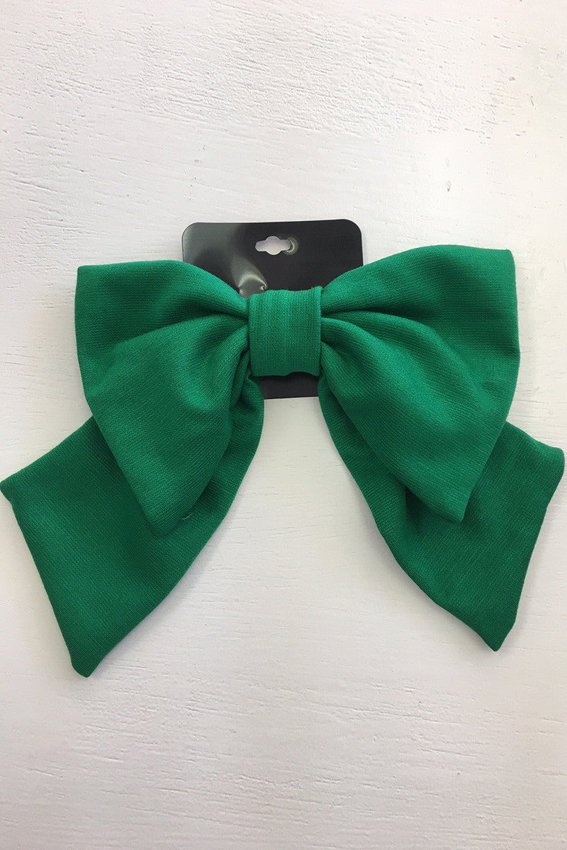 Kelly Green Knit Bow