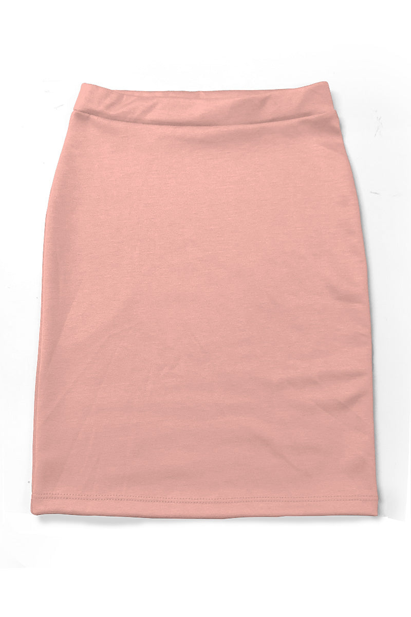 Blush Girls Knit Skirt