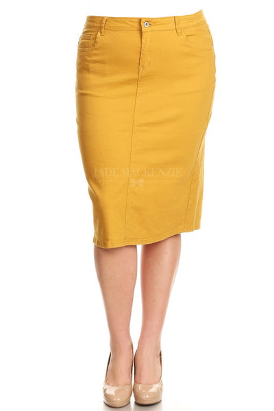 Mustard BG Denim Skirt