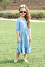 'Carly' Slate Blue Dress