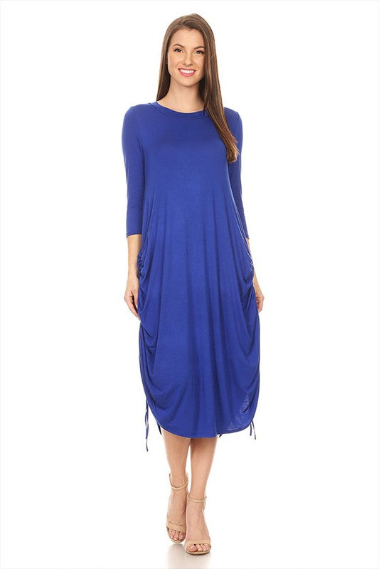 Royal Blue Drawstring Dress