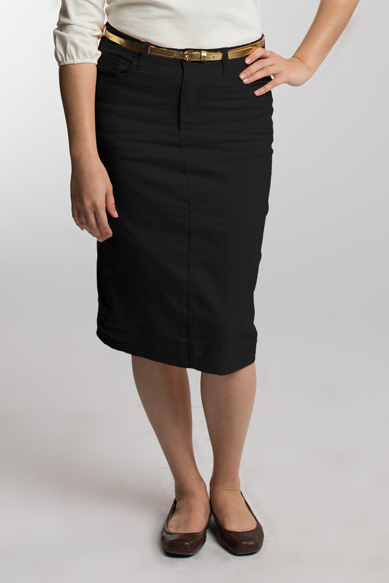 Black Denim Skirt PRE-ORDER