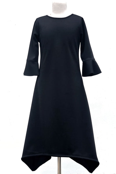 Girls 'Ashley' Dress-Black