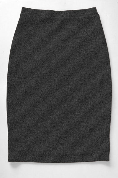 Charcoal Premium Knit Skirt