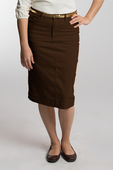 Chocolate Denim Skirt
