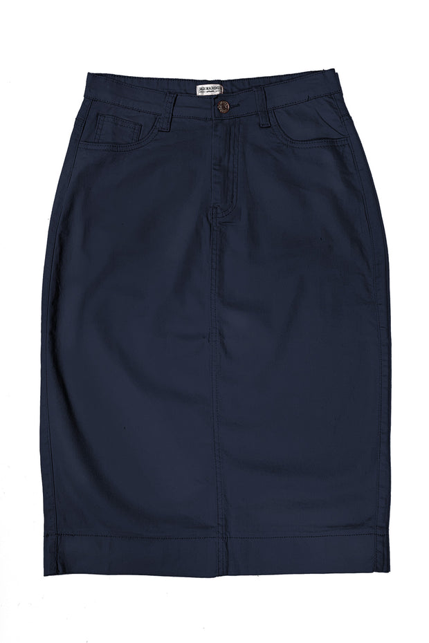 Navy Color Denim Skirt