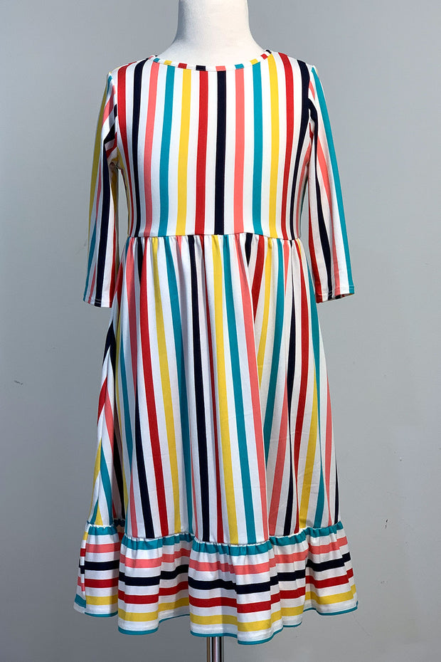 'Carly' Multi-Color Stripe Dress