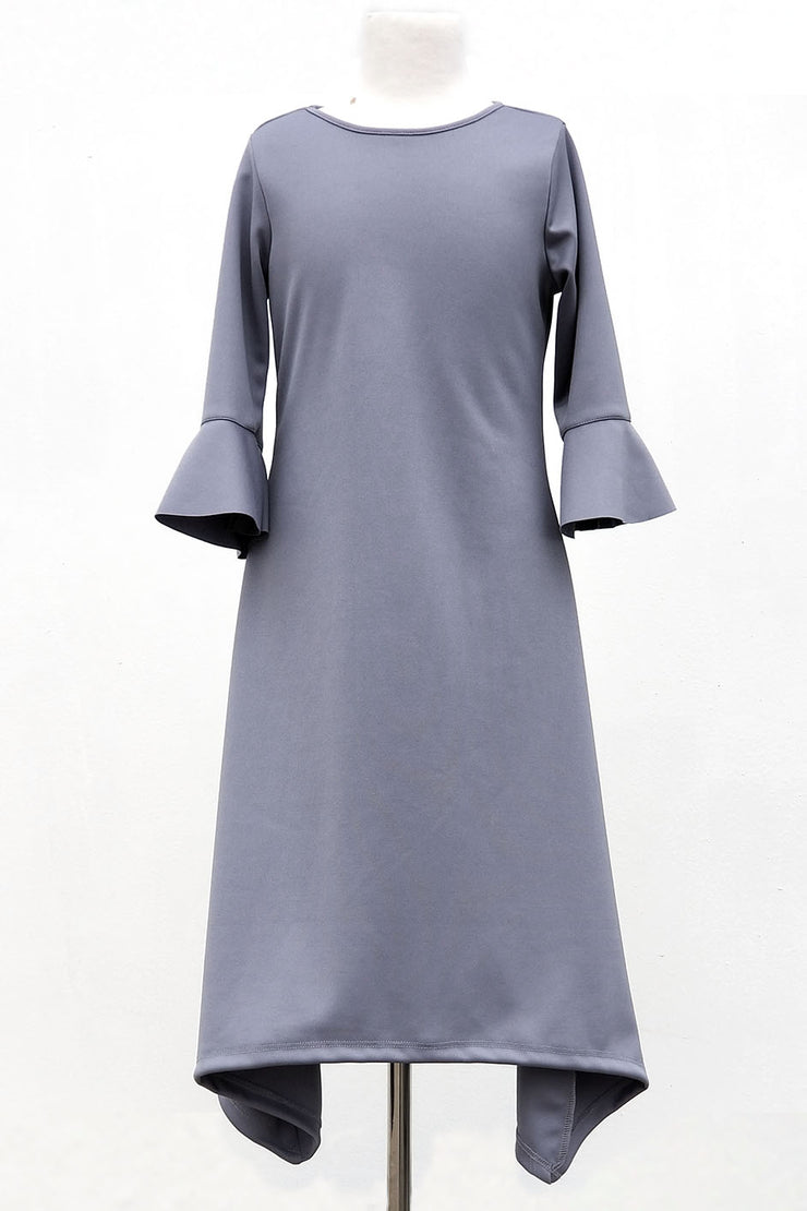Girls 'Ashley' Dress-Gray