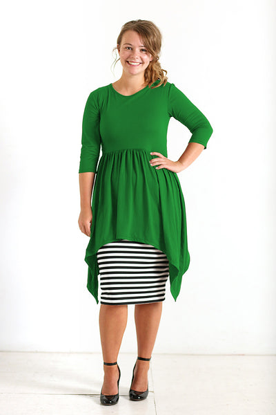 'Deanna' Kelly Green Empire Tunic