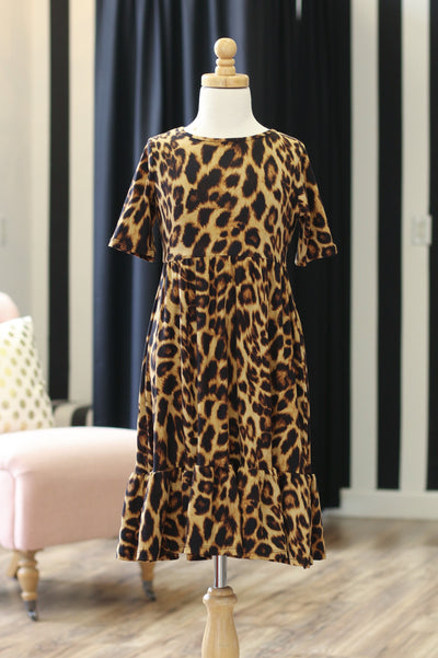 'Carly' Leopard Dress