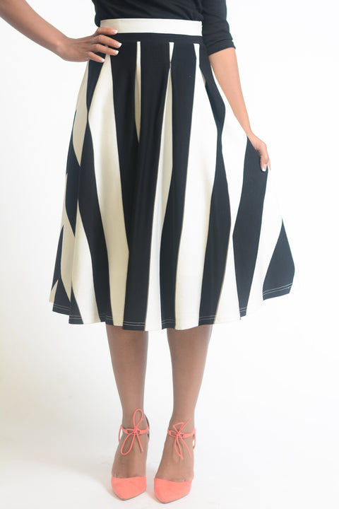 Emmaline Stripe Skirt