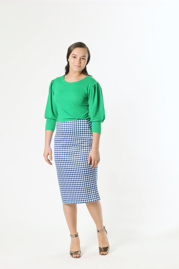 'Sophia' Kelly Green Top