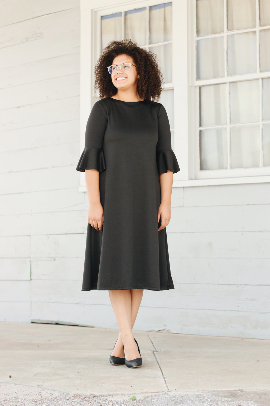'Ashley' Black Dress
