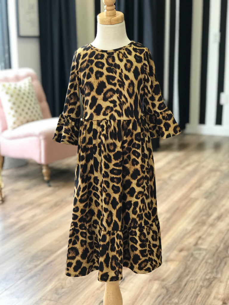 'Peyton' Leopard Ruffle Dress