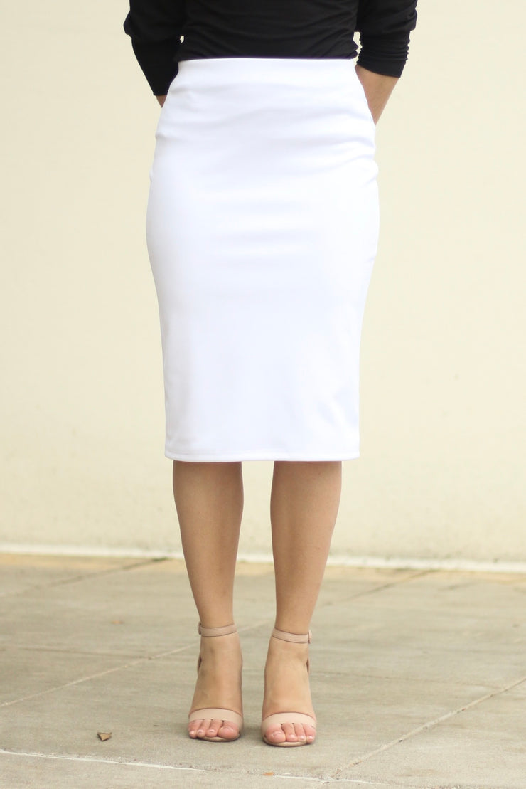 'Riley' White Skirt