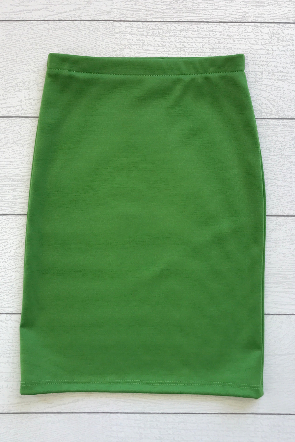 Kelly Green Bright Girls Knit Skirt