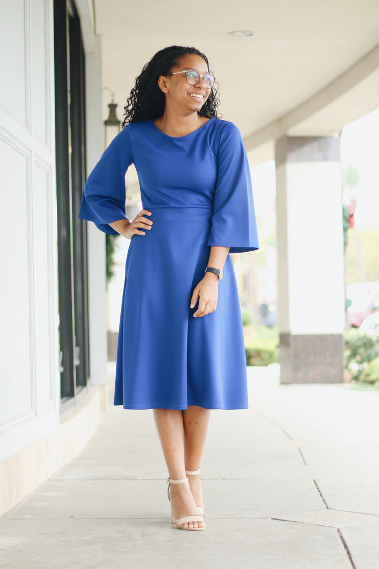 'Ellie' Royal Blue Dress