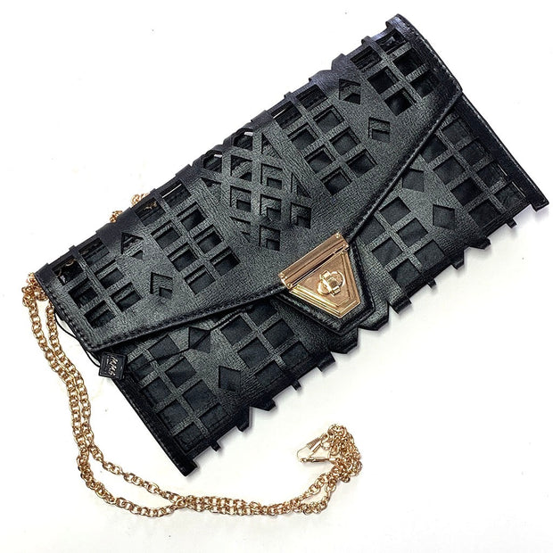 Black Dye Cut Clutch