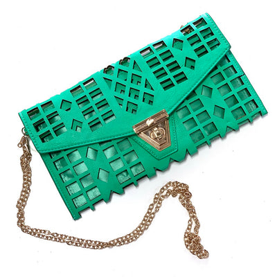 Mint Green Dye Cut Clutch