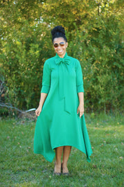 'Paige' Kelly Green Bow Dress