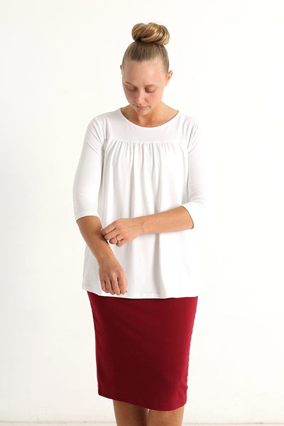 'Josey' Cream Gather Tunic