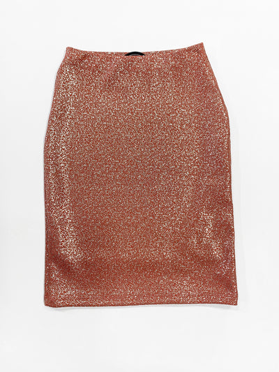 Girls 'Riley' Rose Gold Sparkle Skirt