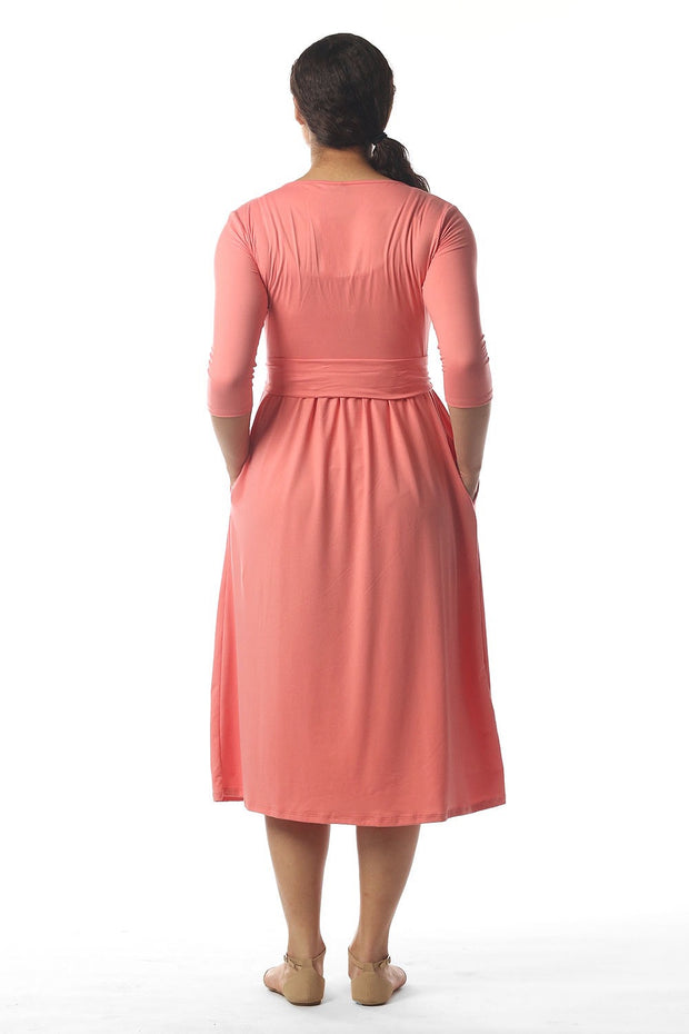 'Lily' Coral Dress