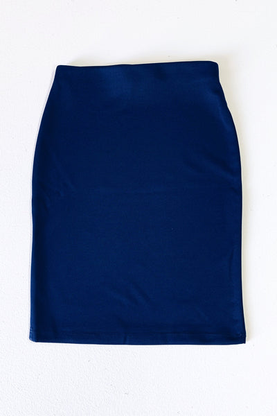 Girls Navy Essential Knit Skirt