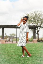'Carly' Polka Dot Dress